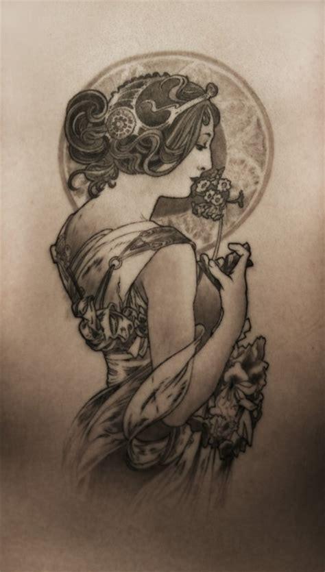 alphonse mucha tattoo mucha