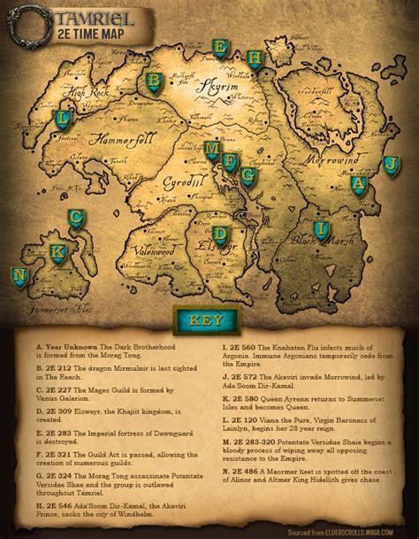 elder scrolls map elder scrolls 2e tamriel map guide information eso universe