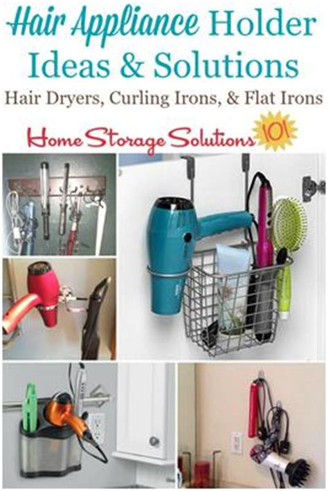 Diy Hair Dryer And Flat Iron Holder hair appliance holder ideas solutions