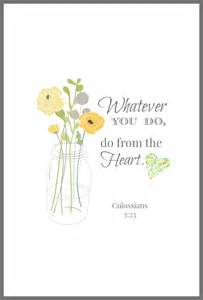 Am adoring this free colossians 3 23 bible verse printable from on