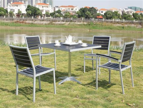 balcony wood chairs wood chairs five piece aluminum frame