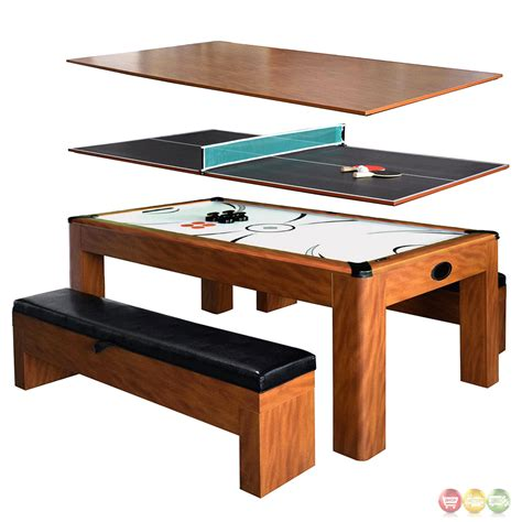 wood air hockey table sherwood 3 in 1 light cherry 7 ft table tennis air
