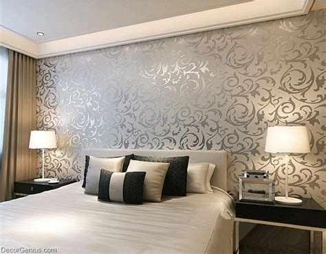damask wallpaper bedroom bedroom ideas sofa popular 3d design silver bedroom wallpaper modern style
