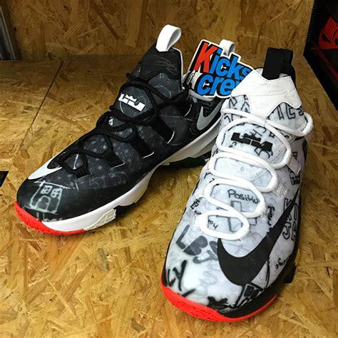 Lebron 13 Low Black White nike lebron 13 low graffiti black white sneakerfiles