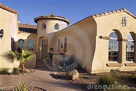 southwestern style modern home stock photo image