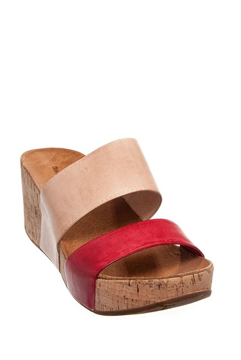 Sendal Wedges Spons Carry chocolat martin mid wedge sandal at dna footwear step carry wedge
