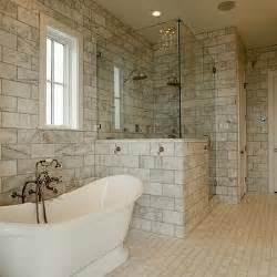 Over Bath Shower Curtain Rail marble brick tile design decor photos pictures ideas