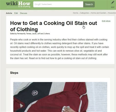 How To Get A Stain Out Of A by How To Get A Cooking Stain Out Of Clothing