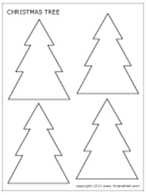christmas tree printable templates coloring pages