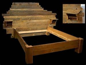 Custom Wood Bed Frames And Headboards Custom Headboard Reclaimed Wood Bed By Mistymtnfurn On Etsy
