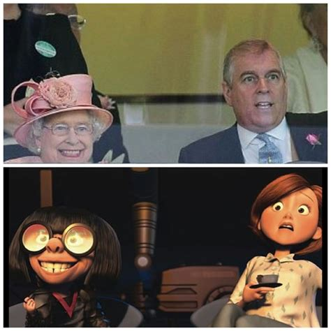 The Incredibles Memes - the queens horse winning kinda looks like edna from the