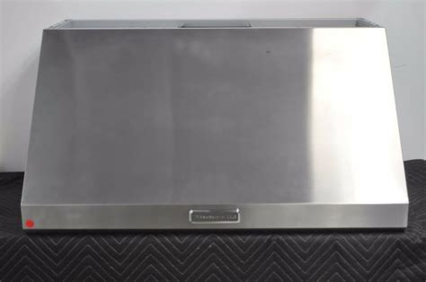 """Kitchenaid KXW8736YSS 36"""" Stainless Wall Mount Canopy"""