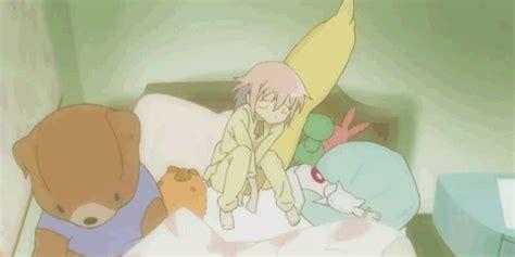 anime futon puella magi madoka magica bed gif find share on giphy