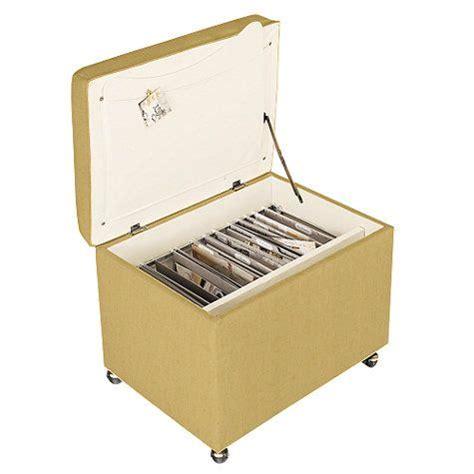 Office Storage Ottoman File Storage Ottoman In Linen Honey Fabric Ballard Designs 371 Project