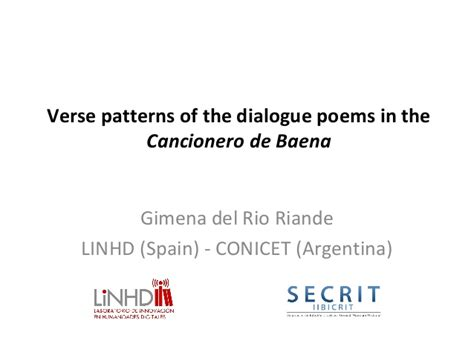 pattern of writing dialogue verse patterns in the dialogue poems of the cancionero de