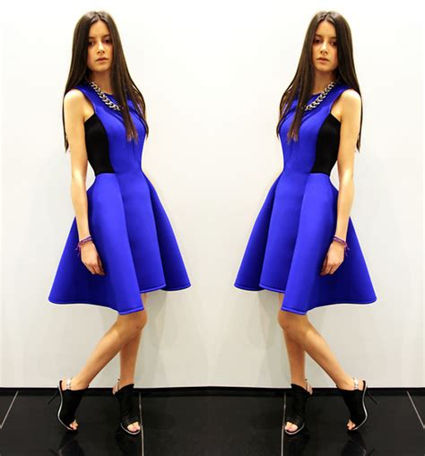 Alesya Dress alesya isaeva dkny dress balenciaga shoes blue dress