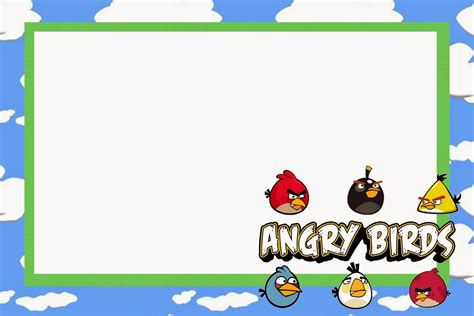 angry birds birthday party invitation template free