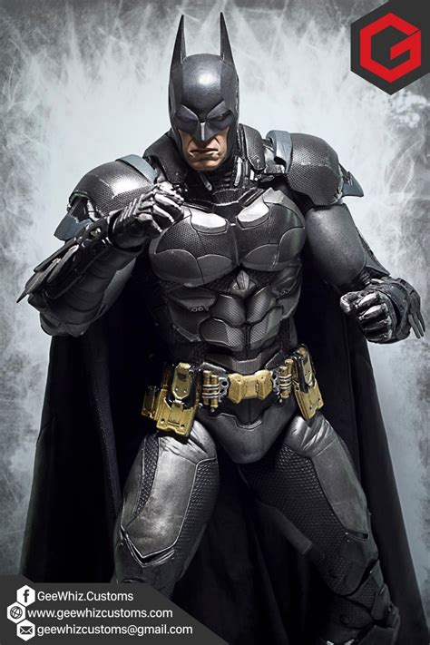 geewhiz customs custom cape armor repaint for neca arkham batman