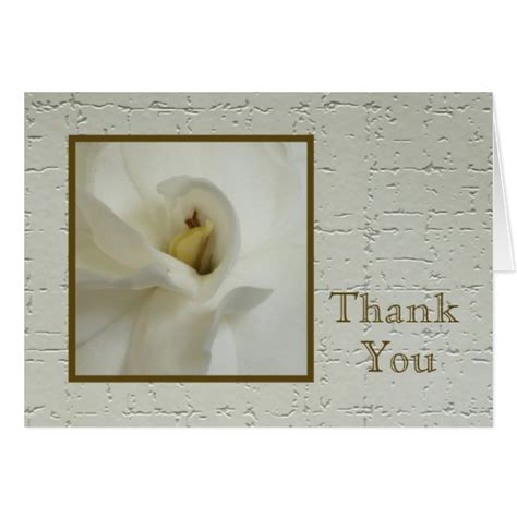 thank you letter sympathy gift sympathy thank you note card gardenia zazzle