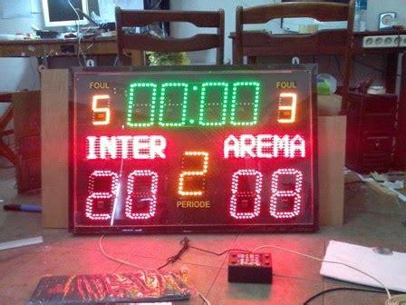 Papan Score Basket Besar pcb jogja teks berjalan running text papan skor score
