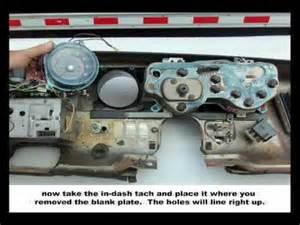 gto lemans dash tachometer installation