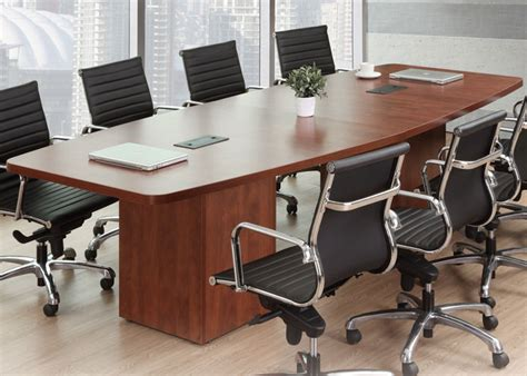 Modern Boardroom Tables Modern Conference Room Table Boatshape W Cube Base Power Modules 8ft 24ft Foot Ebay