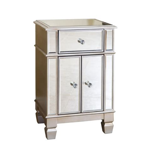 mirrored accent chests for living room ideas home abbyson living sophie mirrored accent chest in silver tm