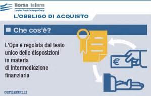 testo unico intermediazione finanziaria opa residuale borsa italiana
