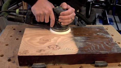 sanding woodwork festool rotex 125 sanding from to a finish