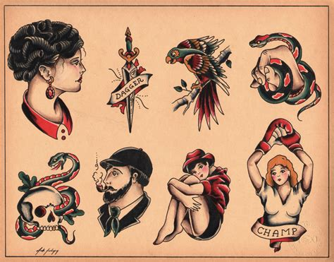 old school tattoo flash school pinup flash by calico1225 d47u2d2