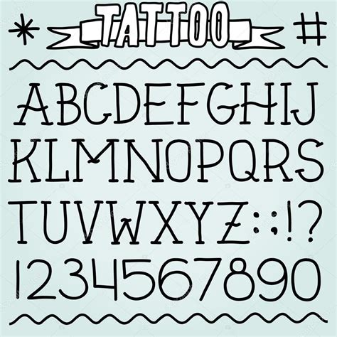 tattoo lettering fonts vertical old school tattoo carattere vettoriali stock 169 dmitriylo