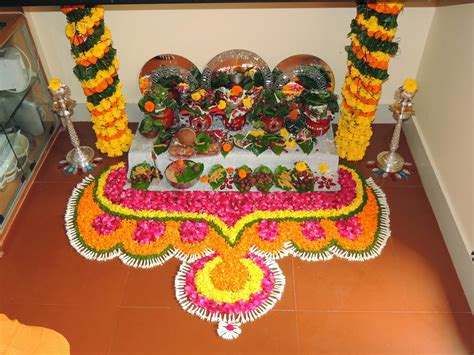 pooja decorations at home my creativity mangala gauri pooja decoration