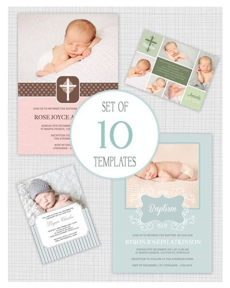 Christening Invitation Card Template Psd by Christening Invitation Template Psd Free