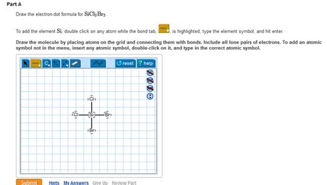solved draw an electron dot solved draw the electron dot formula for sicl2br2 this i