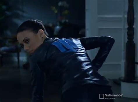 its the nationwide insurance girl jana kramer nationwide s new catsuit wearing spy looks a lot like erin