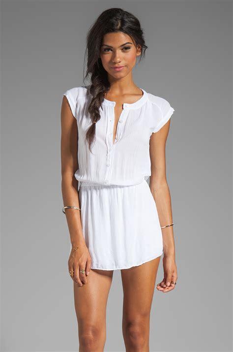 Blouse Blouse Basic White monrow basic blouse dress in white lyst