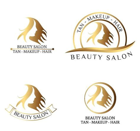 beauty salon logos design vector vector logo free download