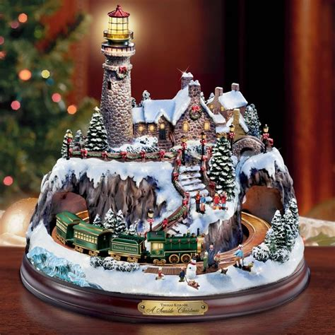 thomas kinkade illuminated tree skirt 10 best images about kinkade on villages the before