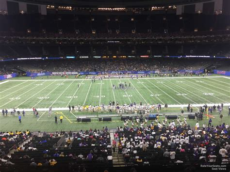 section 11 football superdome section 313 new orleans saints rateyourseats com