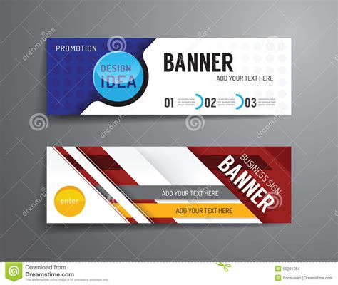 free banner layout design set of banner template vector design graphic or website