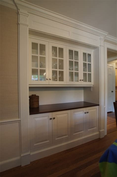 built in dining room hutch classic dining room hutch traditional boston by rogers cabinets
