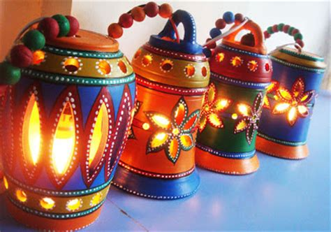 Handmade Diwali Lanterns - rang decor interior ideas predominantly indian november