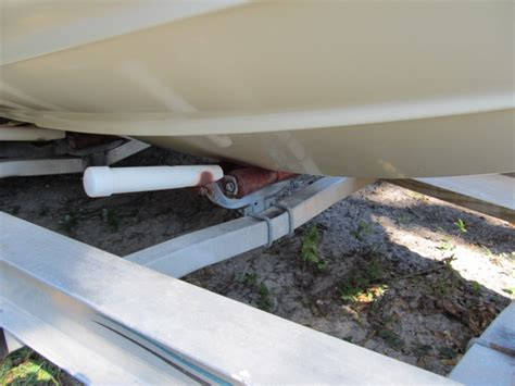centering roller for a bunk trailer the hull truth - Boat Trailer Centering Guides