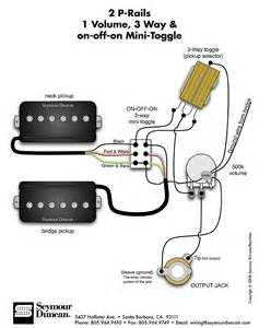 seymour duncan p rails wiring diagram 2 p rails 1 vol 3 way on on mini toggle tips