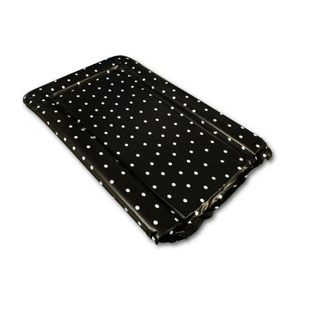 Me To You Changing Mat by Changing Mat In Black With White Polka Dots Design