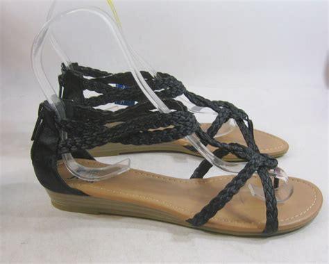 summer black womens shoes gladiator sandals size 8 5 ebay