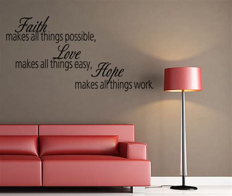 wall stickers bible verses faith makes all things wall decal quote wall sticker bible