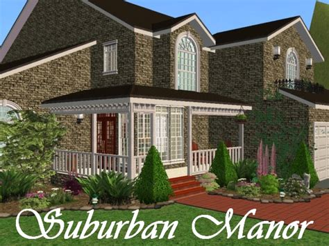 Colonial Mansion Floor Plans Mod The Sims Suburban Manor