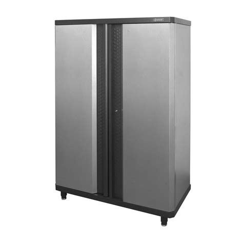 steel garage storage cabinets shop kobalt 48 in w x 72 375 in h x 20 5 in d steel