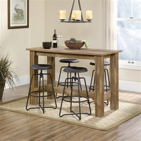 sauder kitchen furniture counter height dining table in craftsman oak 416698